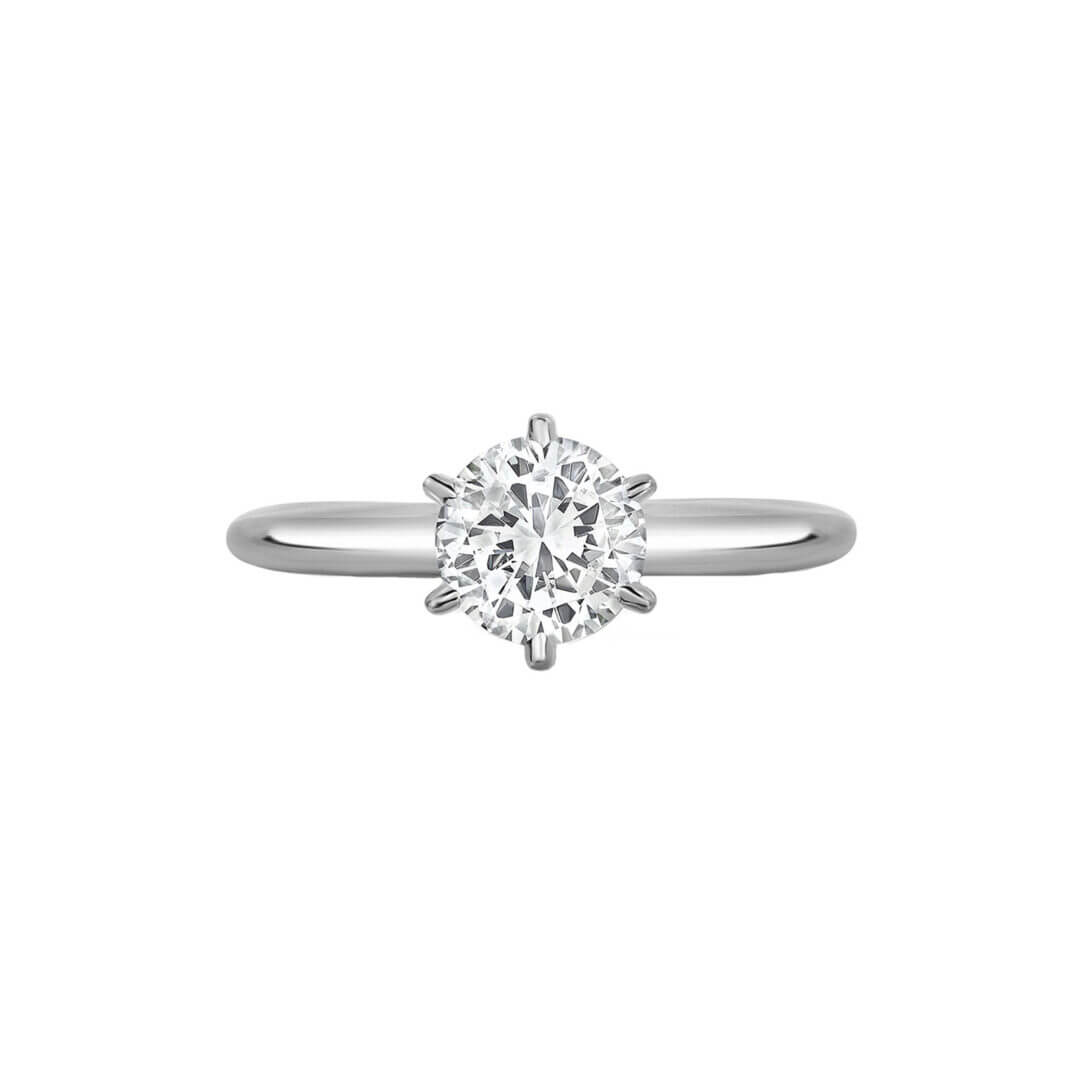 Round Brilliant 6-Prong Solitaire