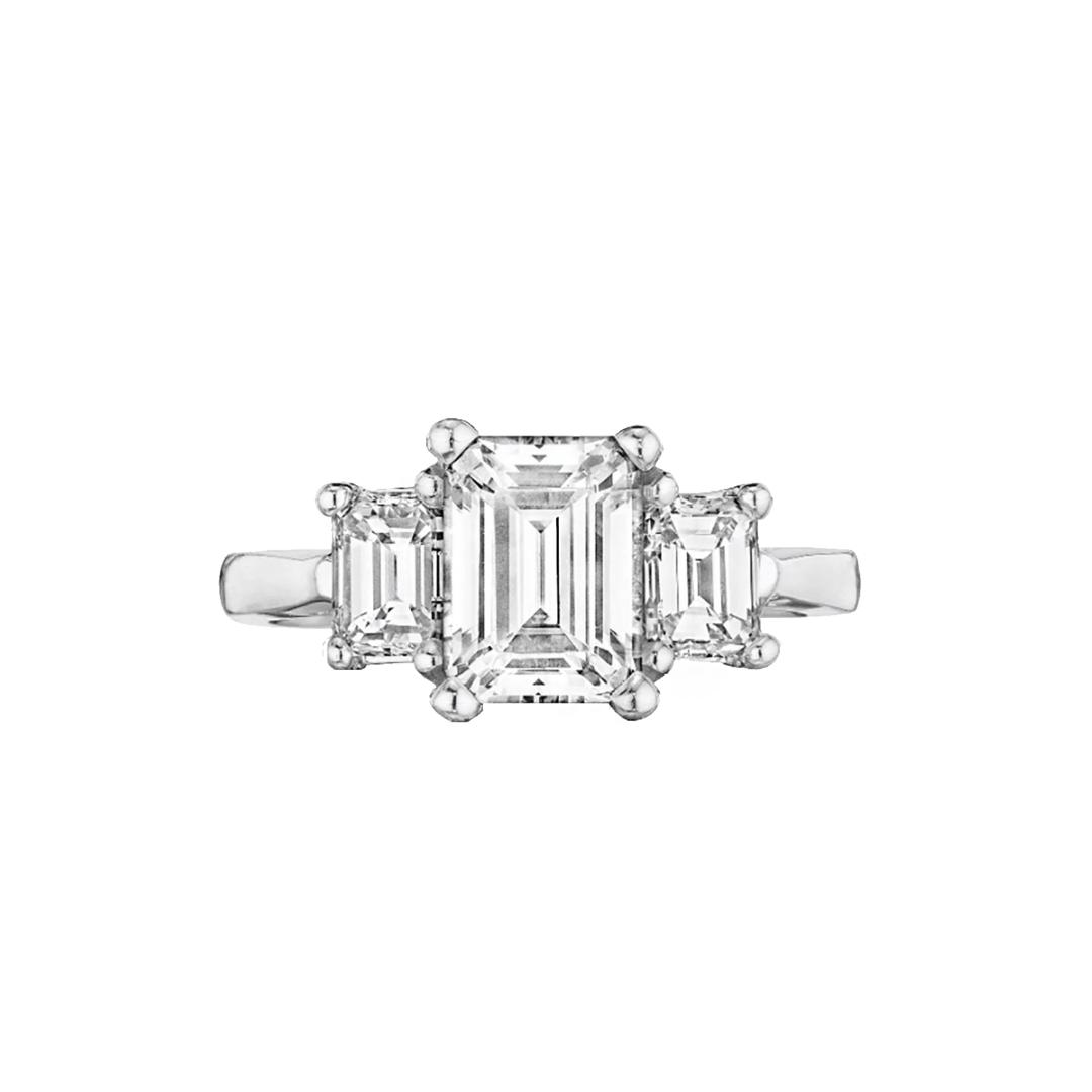 Emerald Three-Stone With Emeralds