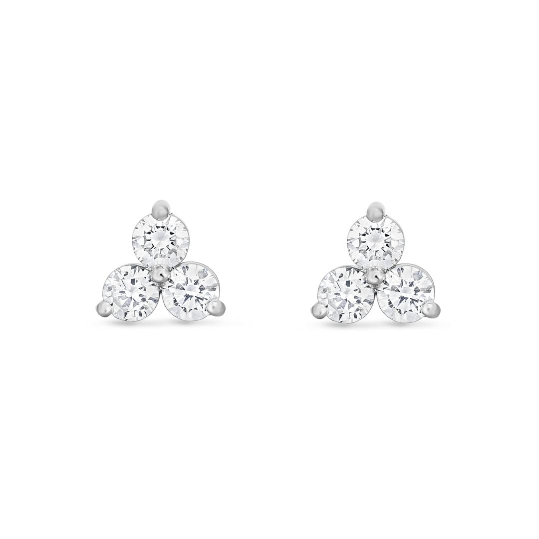 3-Stone Diamond Studs