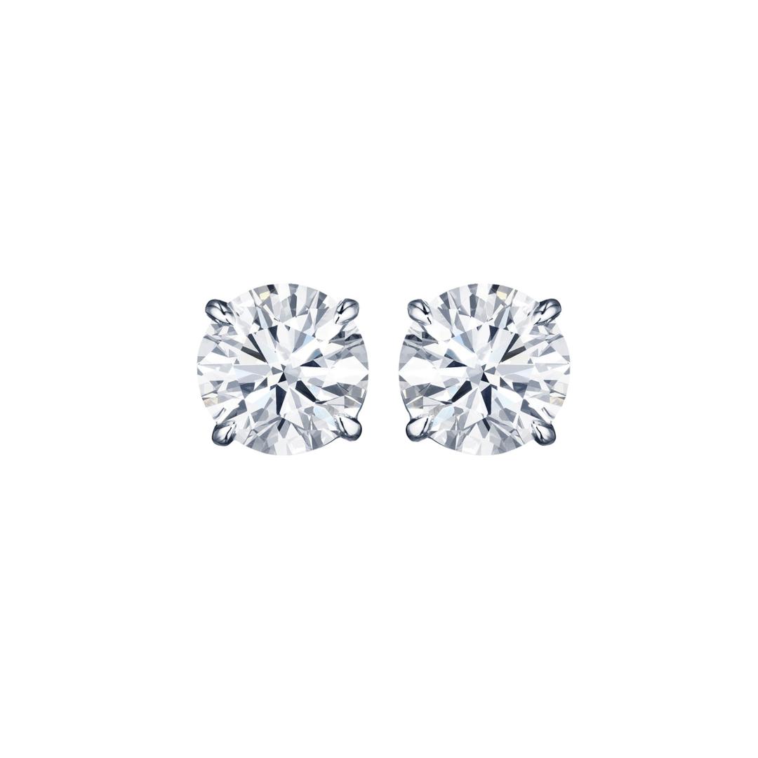 4-Prong Traditional Diamond Studs